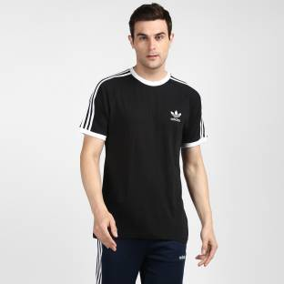ADIDAS ORIGINALS Solid Men Round Neck Black T-Shirt