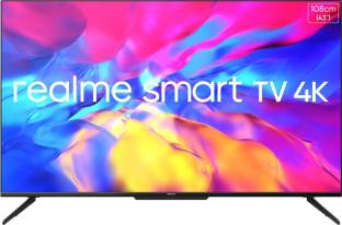realme 108 cm (43 inch) Ultra HD (4K) LED Smart Android TV with Handsfree Voice Search and Dolby Visio...