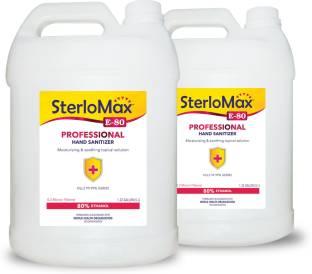 SterloMax Pack of 2 - 80% Ethanol-based Hand Rub Sanitizer and Disinfectant 5 Litres Hand Sanitizer Bottle