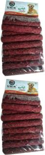 Unik Pack of 2 of chicken kebab 12 pcs each for dogs Mutton 0.4 kg (2x0.2 kg) Dry Adult, Senior, Young...