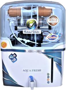 Aqua Fresh NYC PRISM COPPER+ALKALINE+RO+UV+TDS 15 L WHITE AUTOMATIC ELECTRICAL BOREWELL 1500 TDS BEST ...