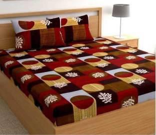 SACHIN ENTERPRISES 245 TC Cotton Double King 3D Printed Bedsheet