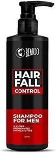 BEARDO Hair Fall Control Shampoo for Men, 250ml | SLES Free | Paraben Free | PHTHALATE FREE | Reduces Hairfall, Nourishes hair