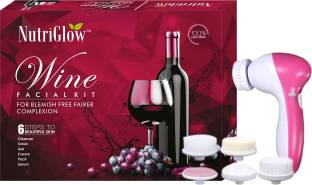 NutriGlow Wine Facial Kit (250+10)g with 5 in 1 Face Massager Free