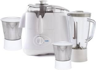 Glen Platinum GL 4015 Juicer 3 Jar 500 W Juicer Mixer Grinder (3 Jars, White)