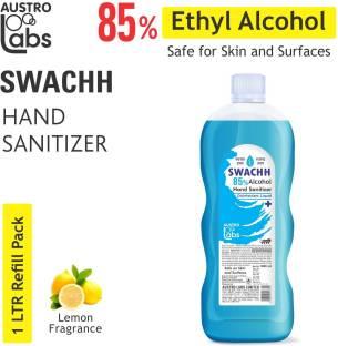 Austro Labs SWACHH HAND SANITIZER LIQUID - REFILL PACK 1 LTR Hand Sanitizer Bottle