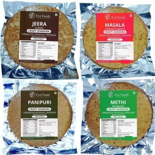 Era Foods Khakhara (Combo of 4) Jeera,Masala,Panipuri,Methi. Each pack of 200gm.