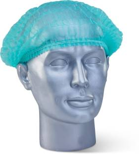 Medex 100 Pcs Disposable Non Woven Bouffant (green) Surgical Head Cap