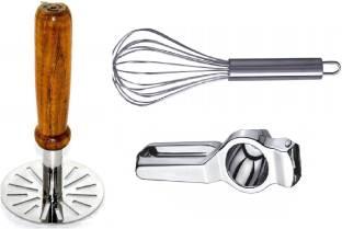 Sampoorna Smart Kitchen Kitchen Tools Combo Sets Potato Masher   Whisker   Lemon Squeezer Tools Combo ...