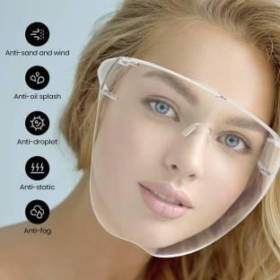 OSR Traders FD01 Protective Face Shield Full Cover Visor Glasses/Sunglasses (Anti-Fog/Reusable/Unbreakable/washable)- Unisex Protective Face Mask Safety Visor
