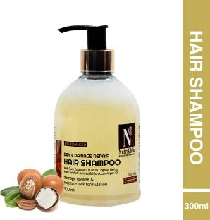 Nutriglow Advanced Organics Bio Advanced Dry and Damage Repair Hair Shampoo /Damage Reverse/ Argan/No Paraben