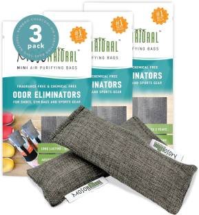 Moso Natural Mini Air Purifying Bags, Shoe Deodorizer and Odor Eliminator in Shoes, Backpacks and Lugg...