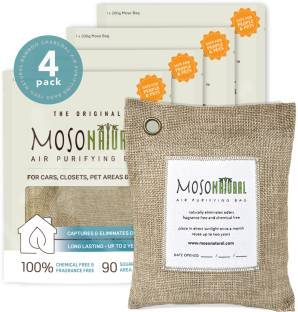 Moso Natural Air Purifying Bags Bamboo Charcoal Air Freshener, Deodorizer, Odor Eliminator & Odor Abso...