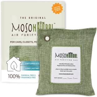 Moso Natural Air Purifying Bag 500g Green Color Naturally Removes Odors,Allergens and Harmful Pollutan...