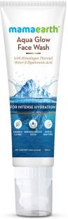 MamaEarth Aqua Glow  With Himalayan Thermal Water and Hyaluronic Acid for Intense Hydration Face Wash