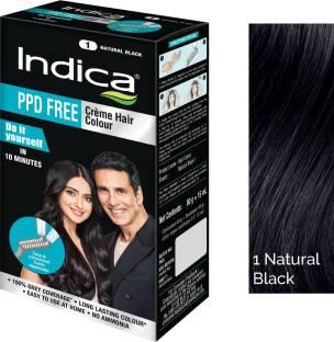 Indica DIY PPD Free Creme with Comb Applicator, Natural Black , Natural Black