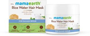 MamaEarth Rice Water Hair Mask with Rice Water & Keratin For Smoothening Hair & Damage Repair