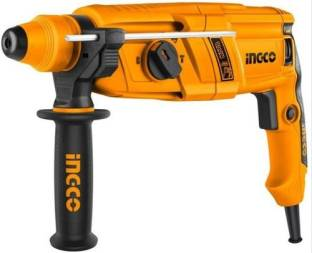 INGCO Rotary hammer drill machine 26 mm 800 W 1100 RPM SDS plus chuck system with 3 pcs drill and 2 pc...