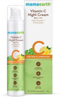 MamaEarth Vitamin C Night Cream For Women with Vitamin C & Gotu Kola for Skin Illumination