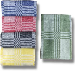 SAMI STUDIOS Luxury Checked Kitchen Towel / Dining Towel / Napkin / Cleaning Cloth / Kitchen Waste Cloth Multicolor Napkins Pack Of 5 – Machine Washable & Easy Care – 40 x 60 cms Large Sized – All Purpose Cleaning Towel for everyday use Wet and Dry Cotton Cleaning Cloth
