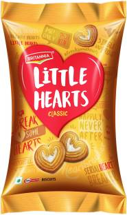 BRITANNIA Little Hearts Classic, Sugar sprinkled heart shaped biscuits