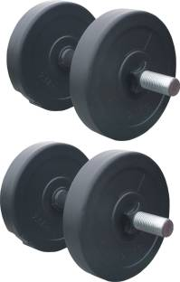 BMS Sports 10 KG PVC Dumbell Set Combo From Home Exercise Adjustable Dumbbell Adjustable Dumbbell