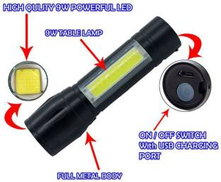 PARTHISHY TRADERS Rechargeable Small Sun 500 Meter Zoomable Waterproof Torchlight 9W Flashlight Torch ...