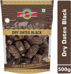 avighna's nutritious DRY DATES BLACK /SUKHA KHAJOOR / CHUHARA PREMIUM QUALITY (KALA CHUARA) 500g Dates
