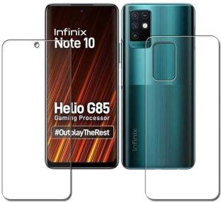 DOWRVIN Front and Back Tempered Glass for INFINIX NOTE 10