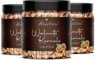 HASITAM California Walnut Kernels ( Akhrot Giri ) (Grade - 8 Pieces, Broken) ( 250x3) Walnuts