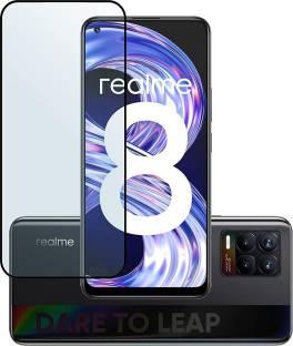 dIZOM Edge To Edge Tempered Glass for Realme 8, Realme 8 Pro, Realme 7 Pro, Realme X7