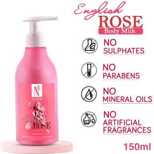 NutriGlow NATURAL'S English Rose Body Milk   Intensive Nourishment   8 hours mousiture lock   Skin Whitening