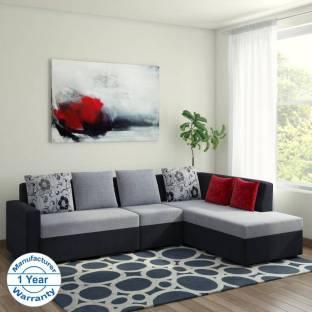 Bharat Lifestyle Nano L Shape Fabric 6 Seater  Sofa