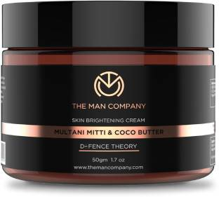 THE MAN COMPANY Skin Brightening Cream Multani Mitti Coco Butter Defence Theory