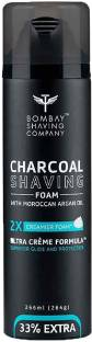 BOMBAY SHAVING COMPANY Charcoal Shaving Foam with Activated Charcoal & Moroccan Argan Oil - Creamier Formula (266 ml - 33% extra) | Made in India