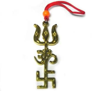 Ratehalf New Tri Shakti Hanging for Protection at Home Buy 1 Get 1 Free Decorative Showpiece  -  6 cm
