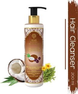 Khadi Essentials Coconut Hair Shampoo with Coconut Milk, Brahmi, Bhringraj, For Hair Growth, Hair Fall Control, SLS Paraben Free