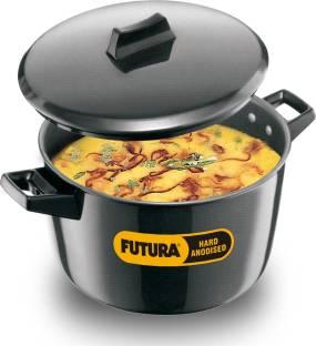 HAWKINS Futura Hard Anodized Cook-n-Serve Bowl Pot 23 cm diameter 5 L capacity with Lid