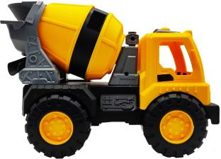 Little Joy Friction Powered Unbreakable Cement Mixer Construction Truck Vehicle Toy for Kids