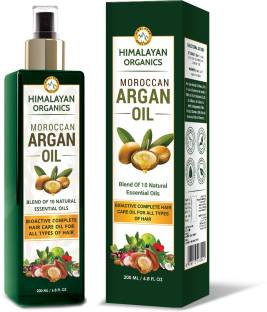 Himalayan Organics Moroccan Argan Oil for Complete Hair Care & Growth - No Mineral Oil & No SLS - 200ml Hair Oil