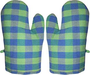 Glun Green Cotton Kitchen Linen Set