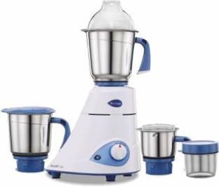 Preethi Blue Leaf Silver 600 W Mixer Grinder (3 Jars, blue and white)