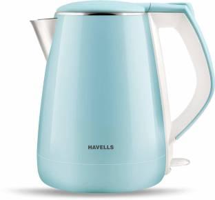 HAVELLS Aqua Plus 1.2 L Electric Kettle 1500W (Blue, White, Silver)