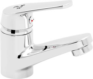 PIXAFLO Brass Single Lever Basin Mixer with 450 mm Long Braided Hoses (Chrome) (INFIX) Hot and Cold Wa...