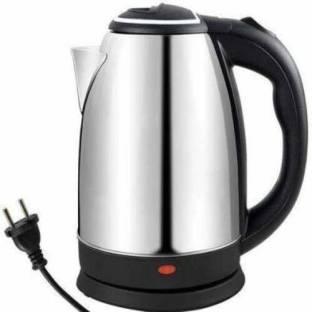 esmile -Hot Water Pot Portable Boiler Tea Coffee Warmer Heater Cordless Electric Kettle (2, Silver) Electric Kettle (2 L, Silver, Black) Electric Kettle