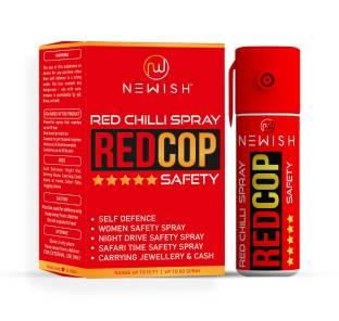 NEWISH : Powerful Red Chilli Pepper Spray Self Defence for Women 55 ml |50 Shots | Range upto -15 Feet Pepper Stream Spray