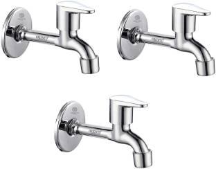 ORIENTOLUXURY Stainless Steel Jazz Long Body Tap - Pack of 3 Bib Tap Faucet