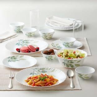 Larah by Borosil Pack of 13 Opalware Fauna Dinner Set