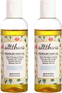 Satthwa Hair Fall Control Oil (Pack of 2) Hair Oil
