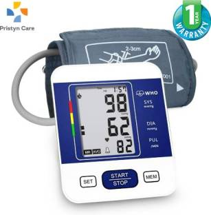 Pristyn care Blood Pressure Monitor Wrist BP Monitor | Automatic Blood Pressure | 1 year Warranty| Bp Automatic Machine | Digital Blood Pressure Monitor| Monitor Digital BP Monitor| Sphygmomanometer |Digital LCD Display Bp Monitor | Wrist B.P Monitor (Blue/White Bp Monitor